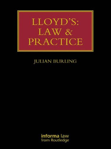 Lloyd's: Law and Practice (Lloyd's Insurance Law Library) (English Edition)