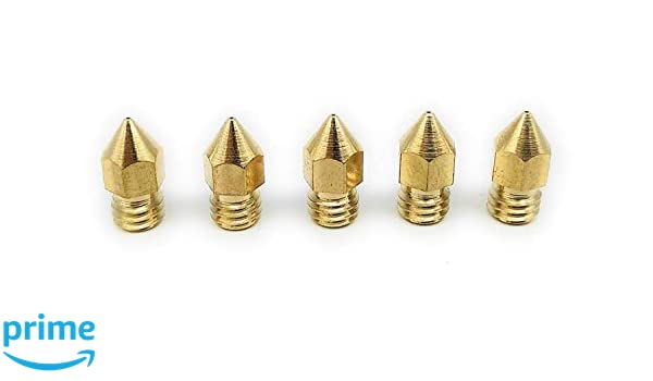 5St Messing Hotend D/üse f/ür ANET A6 mk8 Nozzle Set f/ür 1.75mm Turmberg3D A8 Set - 0.2 mm, 0,3mm, 2x 0.4 mm, 0.5 mm, 5 CTC Cr-10