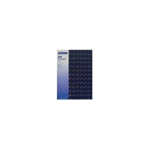 Stephens RS520252 Kohlepapier für Handdurchschriften, 10 Kopfleistenbeutel a 10 Blatt, Praktisch für Haushalt, Schule und Büro, blau