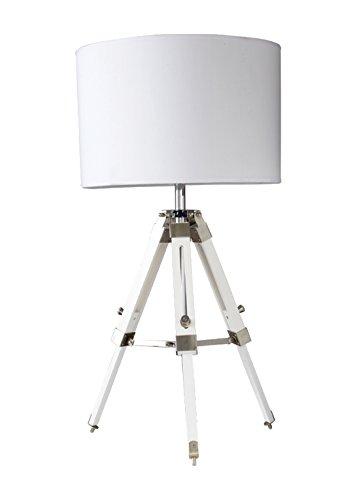 Tripod Table Lamp Shade Colour: White