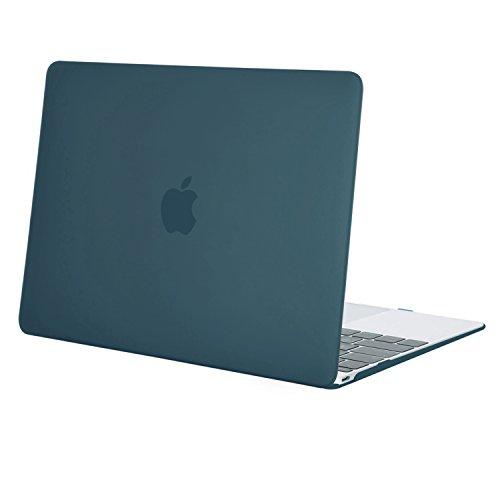 MOSISO Hülle Kompatibel MacBook 12 Retina - Ultradünne Plastik Hartschale Hülle Snap Case Kompatibel MacBook 12 Zoll mit Retina Bildschirm A1534 (Version 2017/2016/2015), Deep Teal