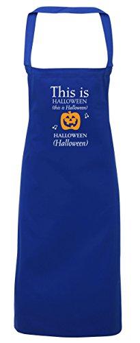 hippowarehouse Dies ist Halloween Schürze Küche Kochen Malerei DIY Einheitsgröße Erwachsene, königsblau, Einheitsgröße
