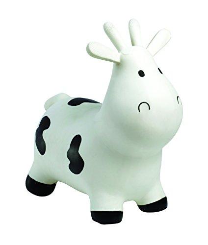 Happyhopperz hhz02b gonfiabile mucca, bianco