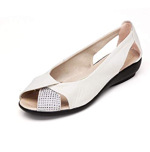 Fischmaul Sandalen Damen Sommer Flach Sandalen Boho Stil Strandschuhe Offener Zeh Atmungsaktive Sandals Elegant Freizeit Schuhe Peep Toe Shoes 2019 New Günstig TWBB -
