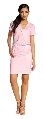 Lemoniade modisches Sommerkleid in ausgefallenem Design, luftigen Schnitten und vielen Farben Made in EU, Modell 1 Rosa, Gr. L (40)