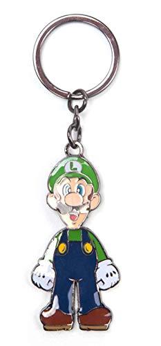 Super Mario Schlüsselring Keychain Luigi Moveable head Nue offiziell Nintendo