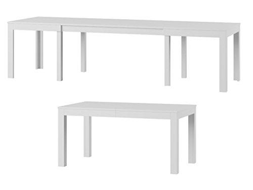 Tisch Küchentisch Esszimmertisch Esstisch WENUS ausziehbar 300 cm !!! (Weiss)