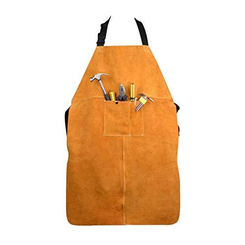 PQZATX Leather Delantal De Ropa De ProteccióN De Soldadura Espesar ProteccióN De...