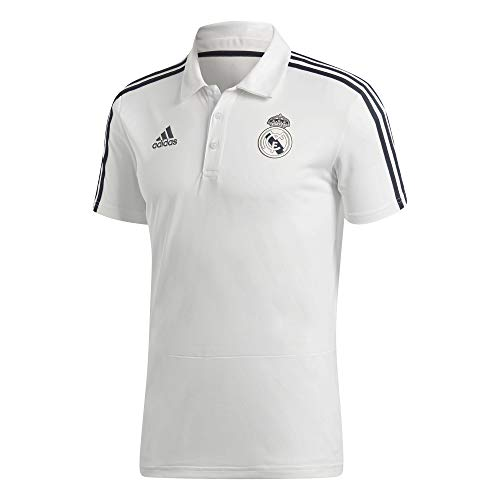 adidas Herren Real Kurzarm Polo-Shirt, Core White/Tech Onix, S -