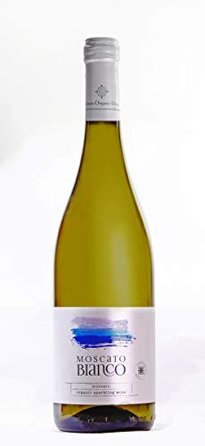Muscat Blanc | Bio edel Schaumwein Halbsüß | Muscat d'Alexandrie aus kontrolliert biologischem Landbau auf vulkanischem Boden | Naturreiner Restsüße - Premium Qualität | 750ml Glasflasche
