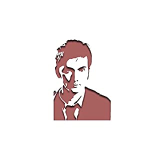 PixieBitz David Tennant Tenth Doctor Dr Who, Schablone inspiriert–30,5x 20,3cm–190Mu Mylar A, Airbrush, Craft, Grafitti st-ml-tv-00007