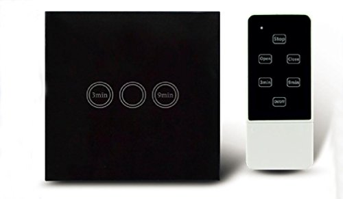 Touch Control Timer Lichtschalter EU Standard Timer Fernwandschalter 1 Gang 1 Weg mit RF Remote und Blue LED Indikator