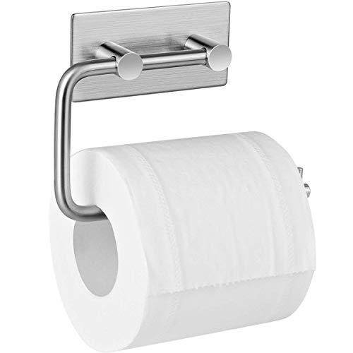 Toilettenpapierhalter, Kuyang Ohne Bohren Papierhalter Selbstklebend Rolle Handtuch Kleiderbügel, 304 Edelstahl Gebürstet Toilettenpapierhalter, Toilet Paper Holder für Küche, Badezimmer (Design House Wc-papier-halter)