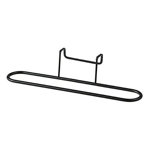 RUNI MO Handtuchhalter Hängehalter, Küchenschrank Handtuchhalter Hängehalter Organizer Badezimmerschrank Kleiderbügel für Badetücher, Waschlappen und Handtücher (Schwarz, OneSize)