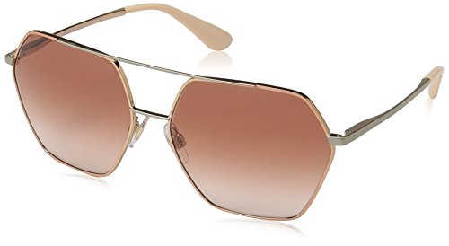 DOLCE & GABBANA Sun PINK GOLD WITH BROWNGRADIENT LENS (Dolce Sonnenbrille Rosa)
