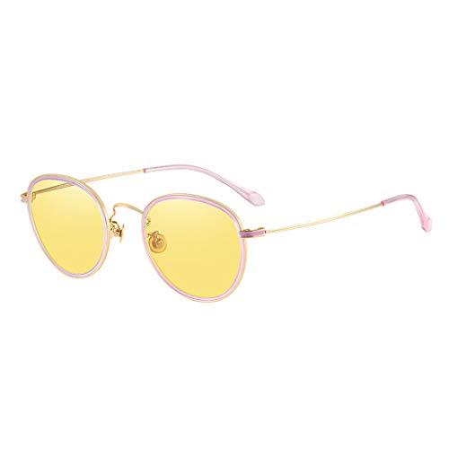 ZHYXJ-Sunglasses Polarisierte Sonnenbrillen - Night Vision Goggles - Frauenfarbene Sonnenbrillen UV-Schutz Druckloser Titanrahmen