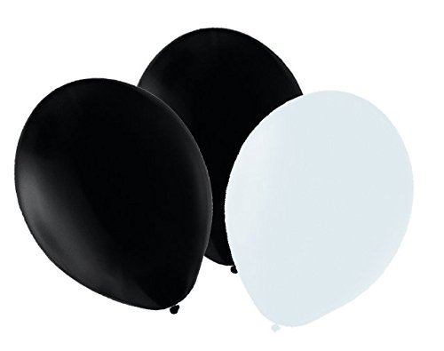 25-x-black-25-x-white-balloons-10-belbal-party-birthday-events-helium-or-air