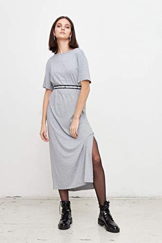 Blissker Damen-Kleid | Trendy&Casual | Cooles Sommerkleid NOLA mit Bürtel Reflective Printing | schönes Maxikleid | Clean Design