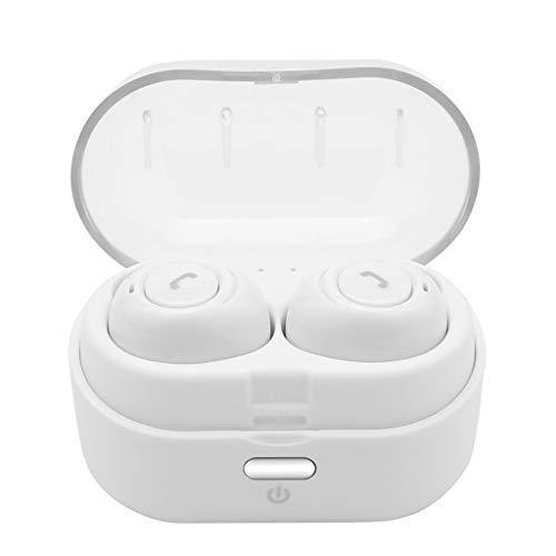 kabellose Sport-Ohrhörer Mini Echte mit Bluetooth-In-Ear-Stereo-Kopfhörern(Weiß)