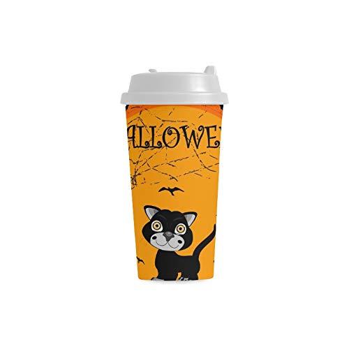 ns mit Kürbis Gewohnheit Druck 16 Unze Doppelwand Plastikisolierte Sport Wasser Flaschen Schalen Pendler Reise Kaffeetassen für Studenten Frauen Milch Teetasse Getränk ()