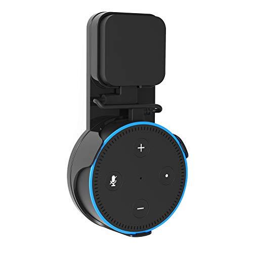 Wandhalterung Echo Dot 2 Generation, ieGeek Aufgehängt Wall Mount mit USB Kabel Für Home Voice Assistants, Ohne Unordentliche Kabel Oder Schrauben in Kueche, Schlaffzimmer, Wohnzimme