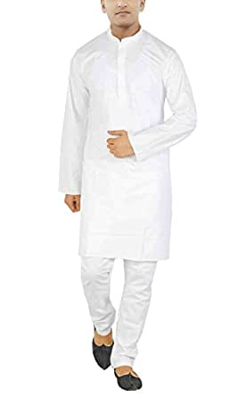 jbn creation Men's Cotton Kurta Pyjama (VASMKP006_38_38_White)