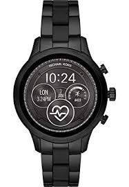 Michael Kors Damen Digital Smart Watch Armbanduhr mit Edelstahl Armband MKT5058