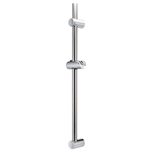 bremermann barre de douche en acier inoxydable 71,5 cm - avec glissières coniques et trou supérieur variables