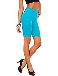 Futuro Fashion Leggings Coton 1/2 Longueur sur-genou Short Active Sport Pantalon Décontracté LK