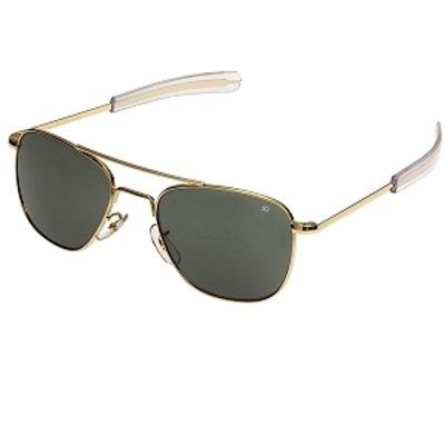American Optical Herren Sonnenbrille goldfarben grau