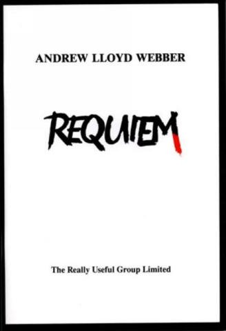 Andrew Lloyd Webber, Requiem for soprano, tenor, treble, chorus and orchestra vocal score (en) - Noten/Sheetmusic