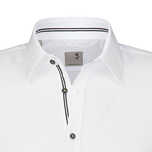 SCHWARZE ROSE Hemd Langarm Fil a Fil weiß 241410/01 Weiß