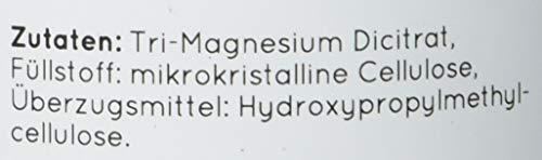 Magnesiumcitrat [ 670 mg pro Kapsel ] – 180 Stück - 2