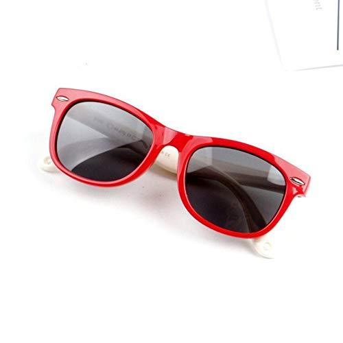 Kinder Runde Sonnenbrille Frühling Und Sommer Kinder Tragen Baby Sonnenbrillen Kinder Weichen Rahmen Polarisierten Brille Bequem Säuglings Uv-Schutz Auge Sonnenbrillen Grünen Rahmen Pulver Fuß Weißen