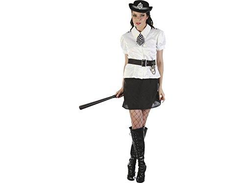 DISONIL Kostüm Polizistin Weißes Hemd Frau Größe L