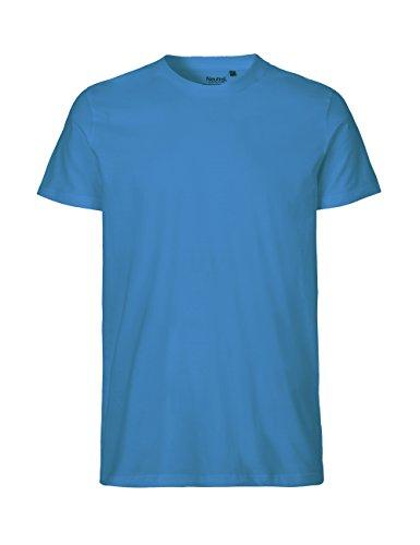 -Neutral- T-shirt, 100% Bio-Baumwolle. Fairtrade, Oeko-Tex und Ecolabel zertifiziert, Textilfarbe: saphirblau, Gr.: L (Jersey Baumwolle T-shirt 100%)
