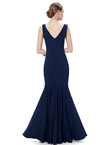 Ever Pretty Robe de soir¨¦e en V-col et en forme de fishtail 08290 Bleu Marine