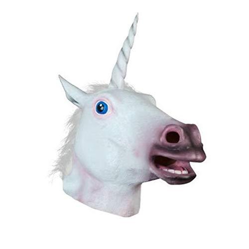 STOBOK Maschera di Unicorno di Halloween Maschera a Testa di Cavallo per Costume di Halloween