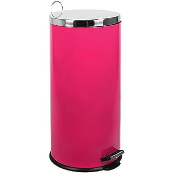 Home Discount Poubelle de Cuisine à pédale de 30 litres Rose avec ...