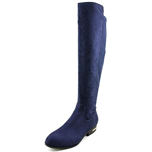 Marc Fisher Pheonix 2 Rund Faux Wildleder Mode-Knie hoch Stiefel Dark Blue