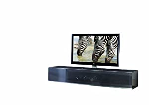 Cantilever TV Cabinet Model VR21 for LCD, LED or Plasma Screens 37,40,42,46,47,50,52,55 inch by SAMSUNG, LG, SONY, PHILIPS, TOSHIBA, PANASONIC, JVC. (Metallic Anthracite)