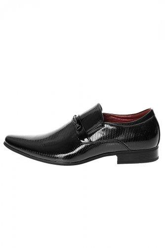 G-Brand Herren Business Slipper Halbschuhe 157-6 Schwarz