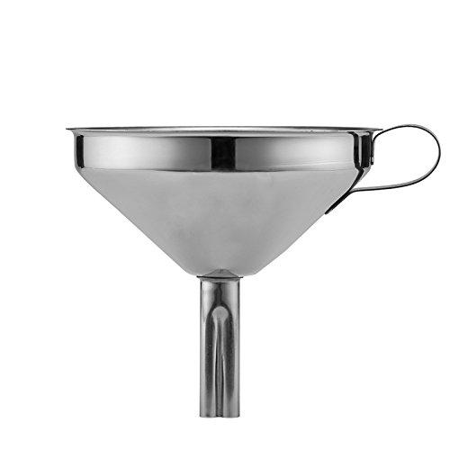 Pulver Trichter Für (OUNONA 12cm Trichter mit Sieb Edelstahl für die Übertragung von flüssigen Flüssigkeiten Trockene Zutaten Pulver)