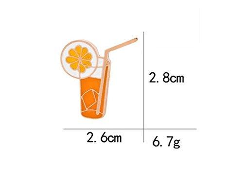 Elegant 1 PC Orangensaft Getränk Muster Brosche Abzeichen für Kleidung Taschen Rucksäcke...