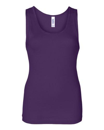Bella 1080:–Rib Tank Top Team Purple