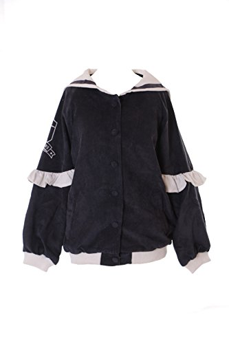 TS-141-1 Anthrazit grau Sailor Matrosen Lolita Rüschen Cord Bomber-Jacke Pastel Goth Harajuku Japan Kawaii-Story