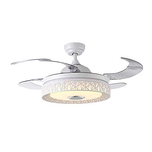 HomeLava Ventilador de Techo con Luz LED 36W Iluminación Luz de Techo Luz Regulable, Blanco