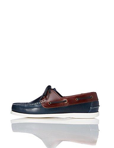 FIND Iconic Herren Bootschuhe Blau (Navy/Tan)