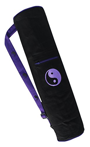 Ryan Overseas Smart Premium Style Cotton Yoga Mat Bag With Exclusive Embroidery - Purple