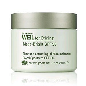Ton Oil Free Moisturizer (Dr. Andrew Weil for Origins Mega-Bright SPF 30 Skin Tone Correcting Oil-Free Moisturizer, 1.7 oz. by Origins)
